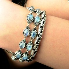 Sterling Silver Moonstone  Bracelet by Bluemoonstone Creations