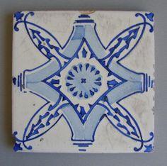 Antique Delftware Portuguese Hand painted tile #694
