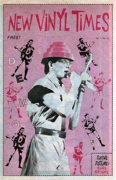 New Vinyl Times Magazine - Devo. 80's New Wave Cover