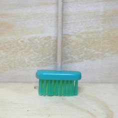 miniature broom - Repurpose toothbrush into broom -how original | Original link missing :-(
