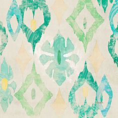 Emerald Star by Evelia Painting Print on Wrapped Canvas