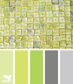 yellow, green, gray