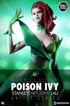 DC Comics Poison Ivy Statue by Sideshow Collectibles from the Stanley Artgerm Lau Series
