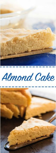 Almond Cake - Almond flavoured cake that is dense and sweet and the perfect treat to add to your Christmas baking list!