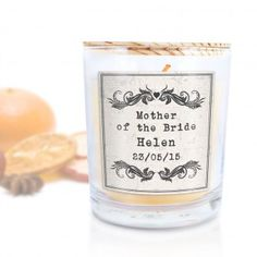 Personalised Vintage Scented Candle - Mother of the Bride