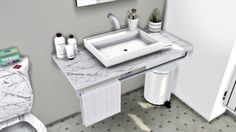Lavabo Sink & Warsaw Bathroom Toilet by MXIMS for The Sims 4 #BathroomToilets