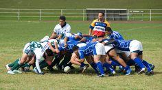 Rugby scrum in Nuku'alofa, Tonga