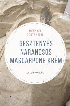 gesztenyes-narancsos-mascarpone-krem Poppy Cake, Salty Snacks, Hungarian Recipes, Cake Tutorial, Trifle, Sweet Life, Recipe Collection, Cake Recipes, Cake Decorating