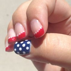 Patriotic Nail Art | Patriotic nail art....cute for the 4th of july!