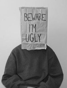 beware i'm ugly Conceptual Photography, Portrait Photography, Wade Wilson, My Demons, Photography Projects, Body Image, Being Ugly, Self, Black And White