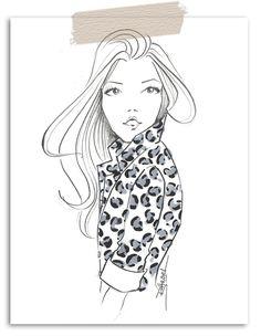 Brooke Hagel-Fashion Illustrator-Leopard-Print-Sketch