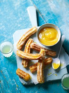 Churros is a Spanish classic but the lemon and cardamom in this recipe gives it a sophisticated twist.