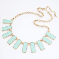 Electronic gold color metal decorated multi-turn design alloy Korean Necklaces  http://earrings.asumall.com/
