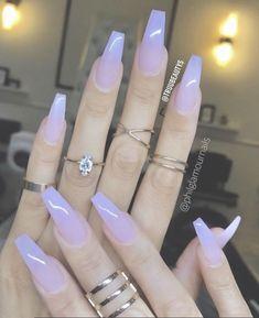 Sheer Milky Pink Long Nail Art Trends & Styles for 20182019 # Acrylic Nail Art - acrylic nails Best Acrylic Nails, Acrylic Nail Art, Acrylic Nail Shapes, Turquoise Acrylic Nails, Colored Acrylic Nails, Simple Acrylic Nails, Natural Acrylic Nails, Milky Nails, Gel Nails