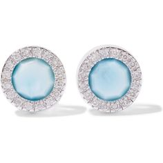 Monica Vinader Nadia sterling silver, diamond and larimar earrings (9 410 UAH) ❤ liked on Polyvore featuring jewelry, earrings, blue, sparkly earrings, sterling silver diamond earrings, sparkle jewelry, blue jewelry and diamond jewellery