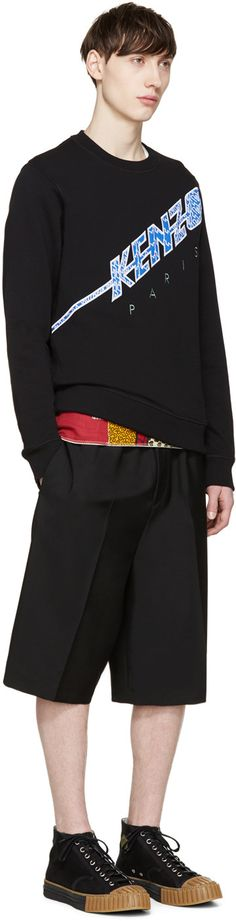 Kenzo - Black Diagonal Logo Pullover
