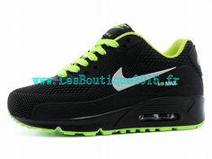 huge discount 30c10 632cb Chaussures Nike Pas Cher Pour Enfant Nike Air Max 90 PS Noir Vert