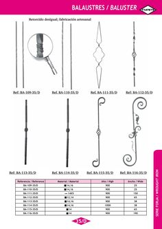 Serie FORJA ARTÍSTICA   Artistic Wrought Iron