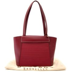 6c0382d59e Labellov Delvaux Bordeaux Toile De Cuire Shoulder Bag ○ Buy and Sell  Authentic Luxury