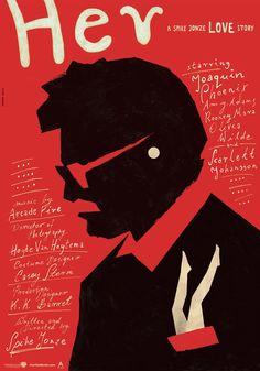 Her (2013) ~ Minimal Movie Poster by Maks Bereski