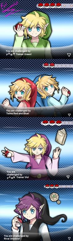 Zelda : Pokemon -Everything is perfect except for Red and Blue being twins-
