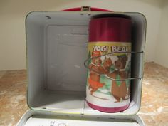 Metal Lunch Boxes with Matching Thermos.