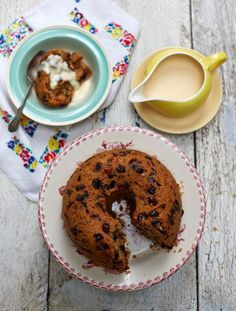 Classic Spotted Dick, can use chocolate chips instead of dried fruits for those that do not like dried fruit.