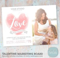 Valentine Marketing Board Template IV015 from Paper Lark Designs