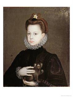 Alonso Sanchez Coello, Infanta Isabella Clara Eugenia, Daughter of Philip II of Spain
