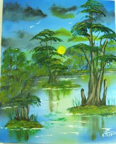 Art Painting Landscape Scenic Arcylic Nature by ALBERTSCRAFTS, $75.00