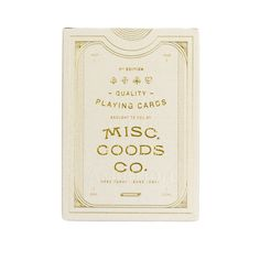 Misc. Goods Co. Playing Cards | Ivory