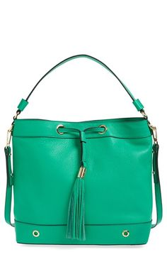 MILLY 'Astor' Tassel Leather Hobo. #milly #bags #shoulder bags #hand bags #leather #hobo #