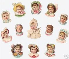 13 Small Victorian Scraps Babies one with Mica Glass Victorian Crafts, Victorian Angels, Victorian Dolls, Vintage Crafts, Pipe Cleaner Crafts, Pipe Cleaners, Vintage Christmas, Christmas Crafts, Chenille Crafts