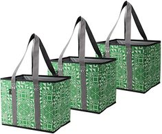 Amazon.com: BILLION YOUNG Reusable Grocery Shopping Bags – Collapsible, WASHABLE, Durable Tote Bags with Reinforced Bottom, Grocery, Trunk and Home Storage - Set of 3 (Green3): Shoes Storage Sets, Utility Tote, Shopping Bags, Tote Bags, Trunks, Amazon, Shoes, Drift Wood, Amazons