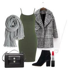"""fall: khaki"" by paluna on Polyvore featuring moda, Tiffany & Co., Miss Selfridge, Topshop, Balenciaga, Calypso St. Barth i MAC Cosmetics"