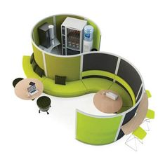Huddle space for an open office design.