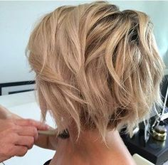10 Stylish Messy Short Hair Cuts: Attractive Women Short Hairstyles Blonde Short Haircut – Messy Short Hairstyles for Thick Hair Short Messy Haircuts, Bob Haircut Curly, Wavy Bob Haircuts, Short Hairstyles For Thick Hair, Round Face Haircuts, Messy Hairstyles, Short Hair Styles, Curly Hair, Hairstyle Ideas