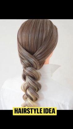 Hairdo For Long Hair, Long Hair Video, Easy Hairstyles For Long Hair, Work Hairstyles, Braided Hairstyles, Peinado Updo, Blow Hair, Hair Upstyles, Hair Knot