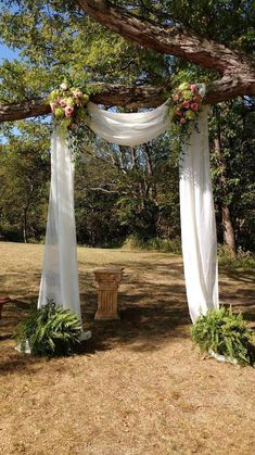 Wedding decor, wedding DIY, romantic wedding wedding arch outdoor ceremony 55 romantic wedding decor ideas - Page 34 of 55 - LoveIn Home Romantic Wedding Decor, Diy Wedding, Rustic Wedding, Dream Wedding, Wedding Altars, Wedding Makeup, Romantic Backyard, Beige Wedding, Romantic Ideas