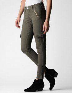72 Vente Pantalones Pantalon Cargo Super Skinny Cher Overdye Casey Pantalones €40 Pas Femmes WfAqvwa7n