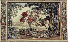 The Bacchus tapestry is one of our Charles le Brun tapestries, from a four seasons series, now woven in France. From Tapestry Art Designs