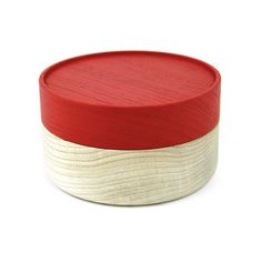 Hako wood container - Soji Collection - Small Red - MONOSQUARE