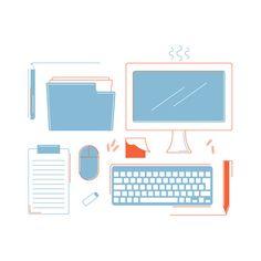 Office icons ©Justyna Krug Office Icon, Digital Illustration, Icons, Animation, Illustrations, Projects, Log Projects, Animation Movies, Illustration