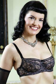 4f774b9829 What Katie Did Vicky Black Lace Underwired Balconette Bra. Mio Destino  Lingerie