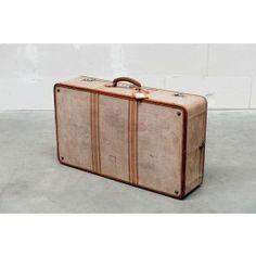 ScotchCollectables - beige fabric suitcase