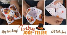 Thanksgiving is a fun day full of family and chaos. Print this free Thanksgiving joke teller to kids entertained while you serve dinner.