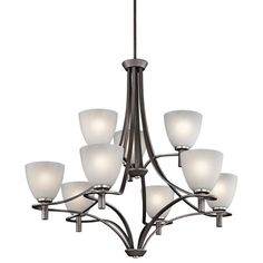 Neillo Anvil Iron Nine-Light Chandelier