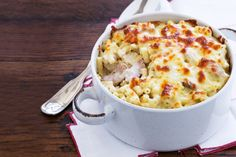 Tuna Pasta Bake. Just six ingredients is all you need for this speedy, budget-friendly dinner!
