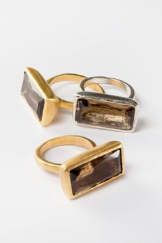 Check out this item in my Etsy shop https://www.etsy.com/il-en/listing/229614166/gold-rectangular-smoky-quartz-ring