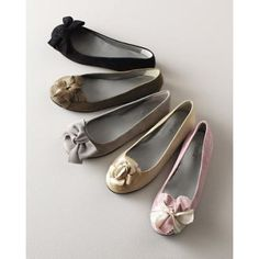 Garnet Hill Italian Leather Artful Ballet Flats 09.5 Granite Suede Bow